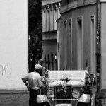 Man and a car, Budapest