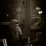 Sad lady in Istanbul