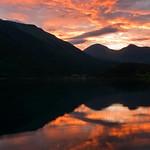 Sunset by Eikesdalsvattnet