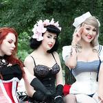 Burlesque ladies at Pride festival